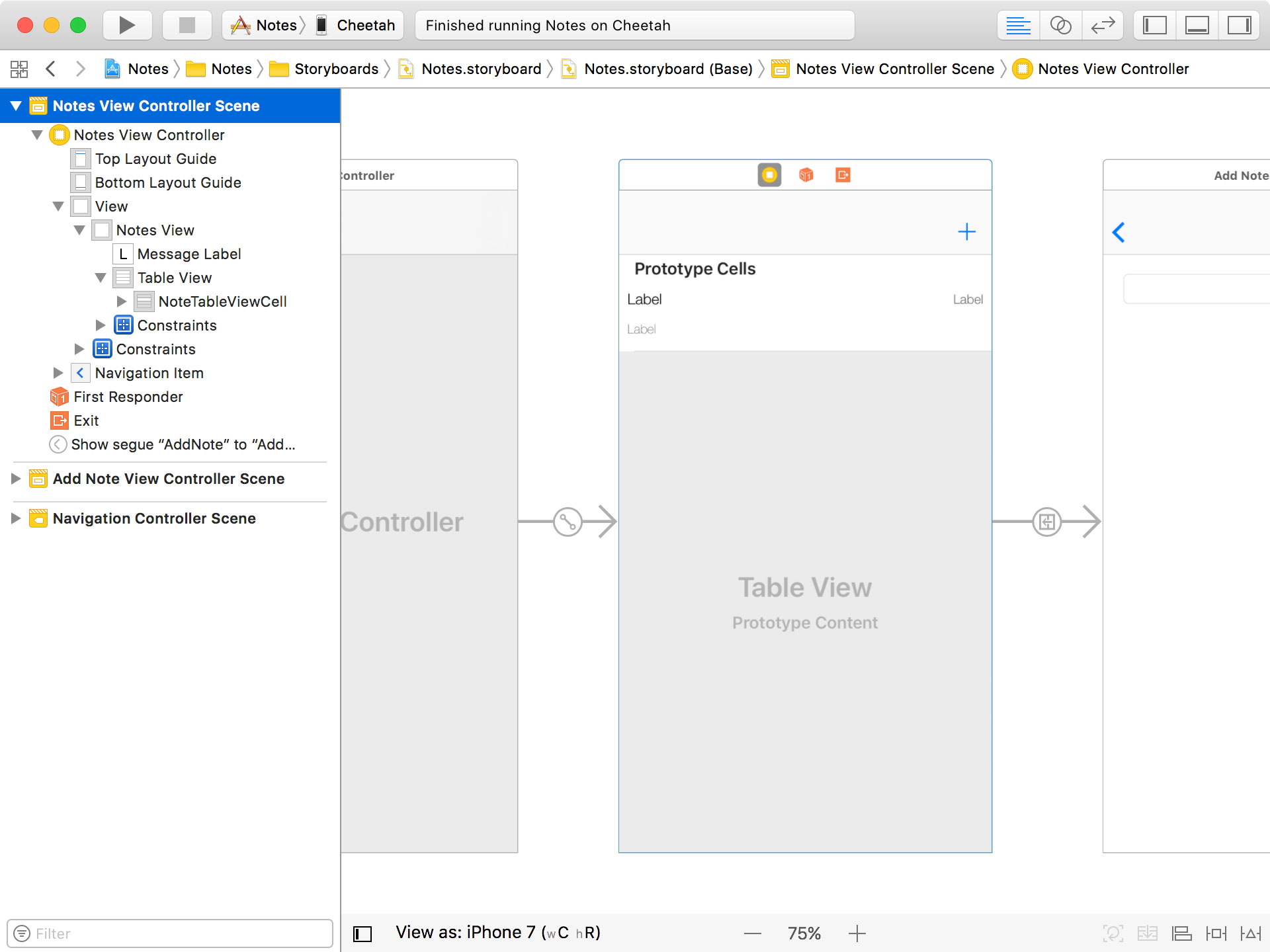 Notes View Controller
