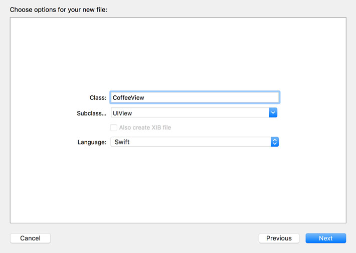 Create a UIView Subclass