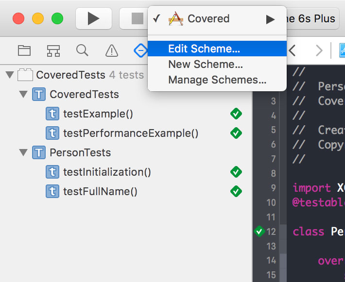 How To Enable Code Coverage In Xcode