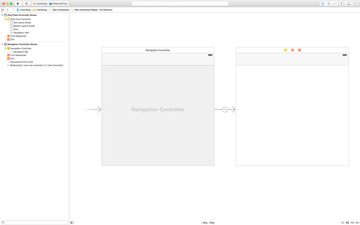 Embedding the Root View Controller In a Navigation Controller