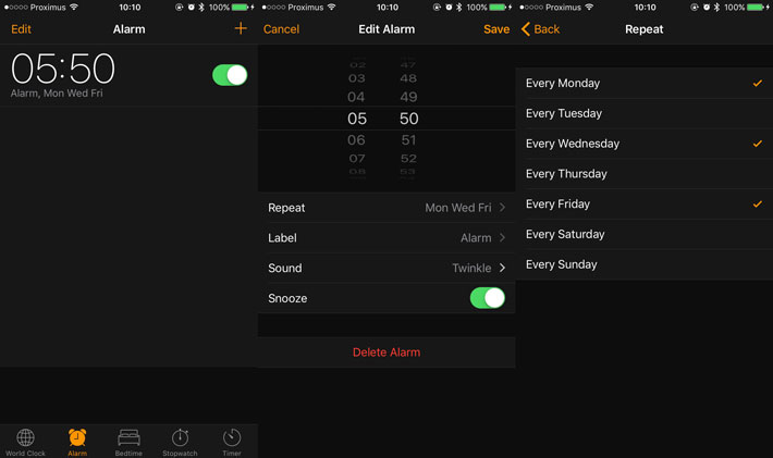 Scheduling a Timer In the Clock Application