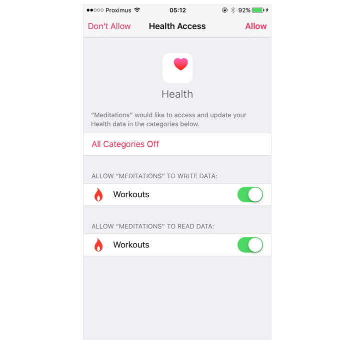 Requesting Authorization for HealthKit