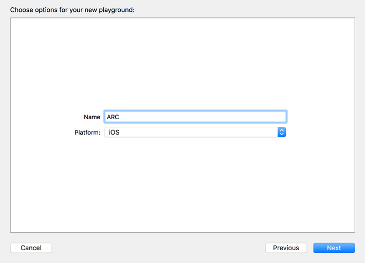 Create A Playground in Xcode