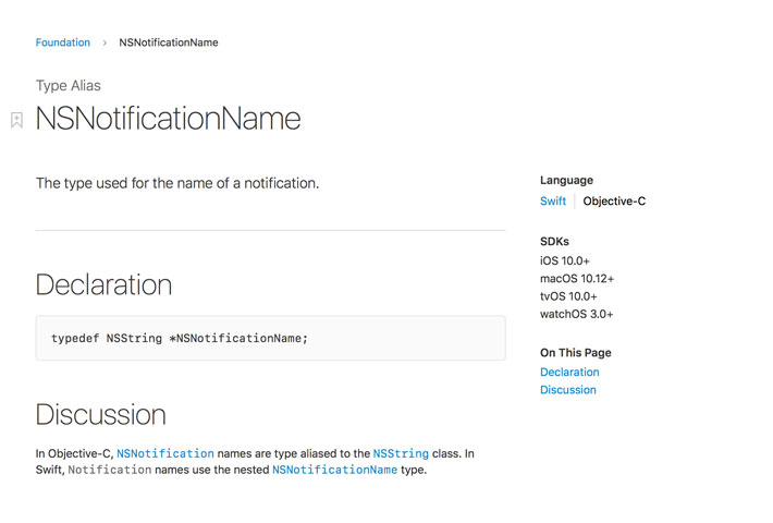 What Is NSNotificationName in Objective-C